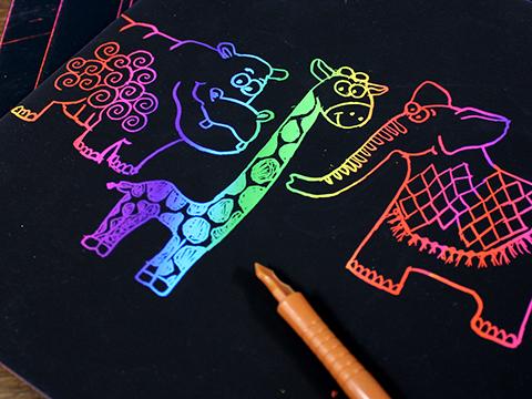 rainbow scratch paper Arts & crafts materials paper & boards scratchboard art scratch paper/sheets results rainbow white® scratch-art® paper.